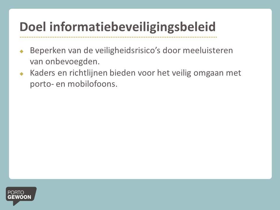 Doel informatiebeveiligingsbeleid