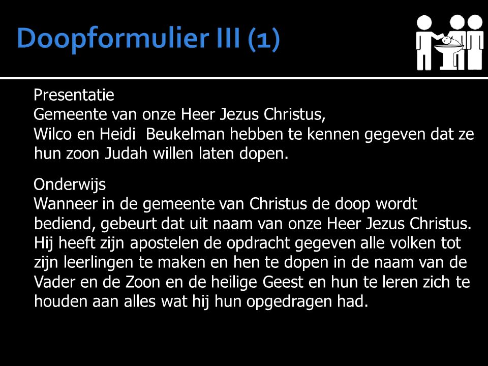 Doopformulier III (1) Presentatie