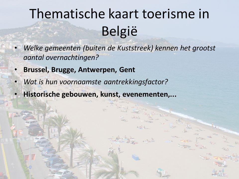 Thematische kaart toerisme in België
