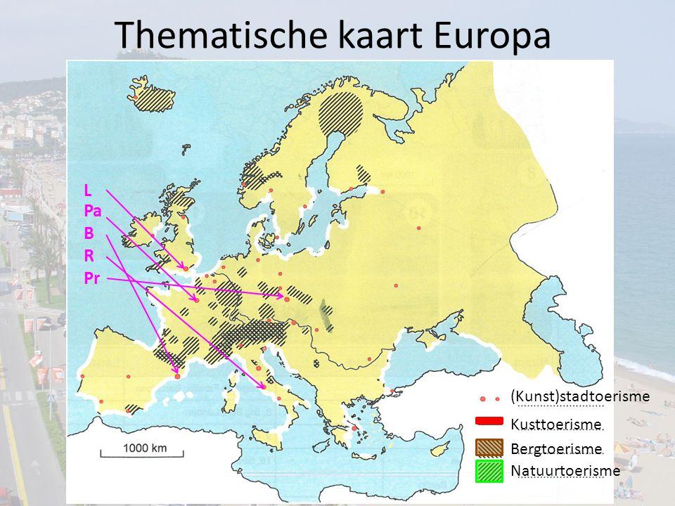 Thematische kaart Europa