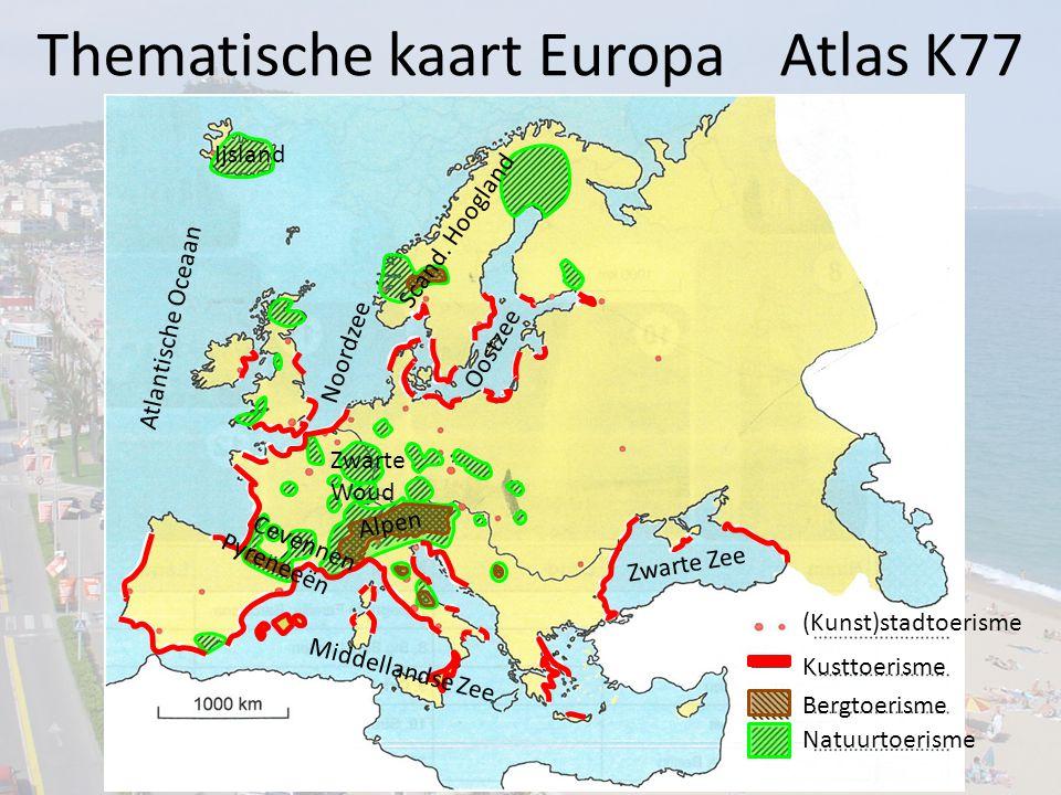 Thematische kaart Europa Atlas K77
