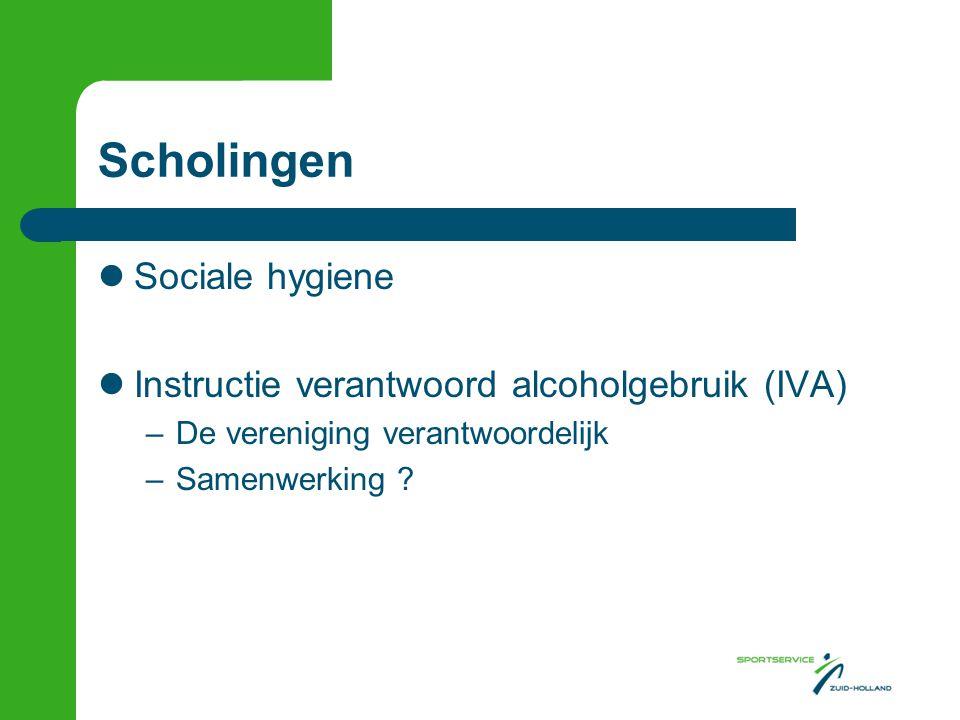 Scholingen Sociale hygiene Instructie verantwoord alcoholgebruik (IVA)