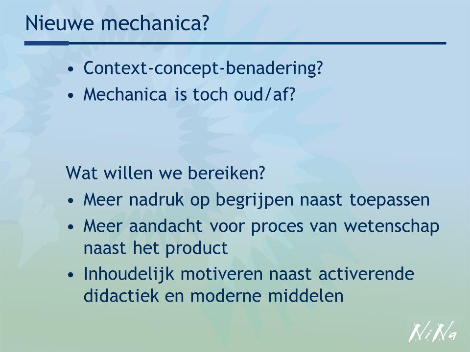 Nieuwe mechanica Context-concept-benadering