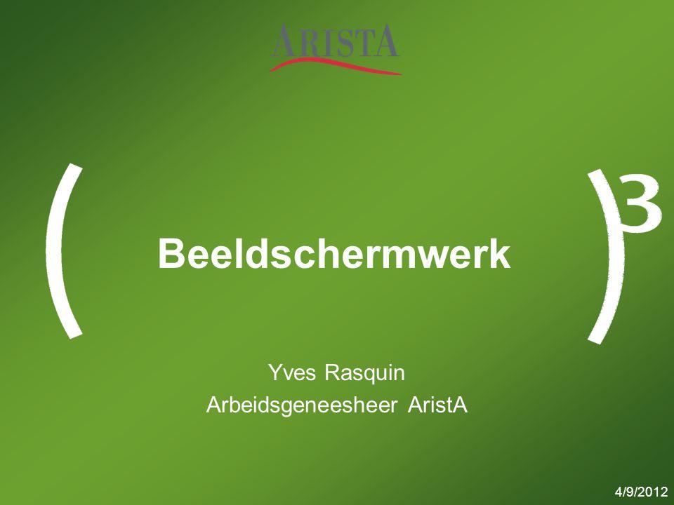 Yves Rasquin Arbeidsgeneesheer AristA
