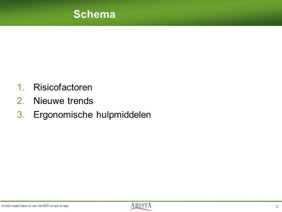 Schema Risicofactoren Nieuwe trends Ergonomische hulpmiddelen