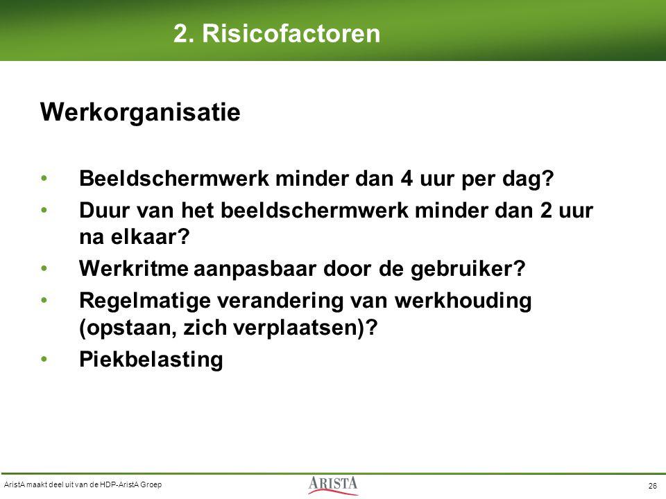 2. Risicofactoren Werkorganisatie