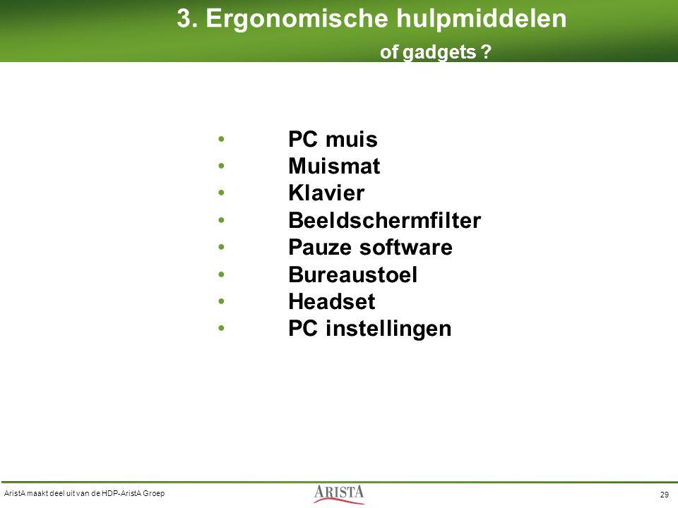 3. Ergonomische hulpmiddelen of gadgets