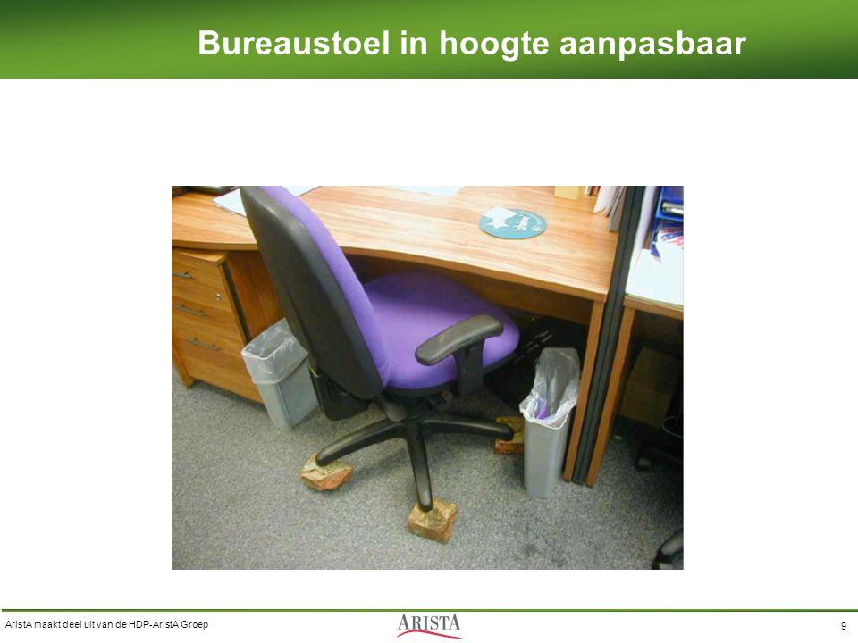 Bureaustoel in hoogte aanpasbaar