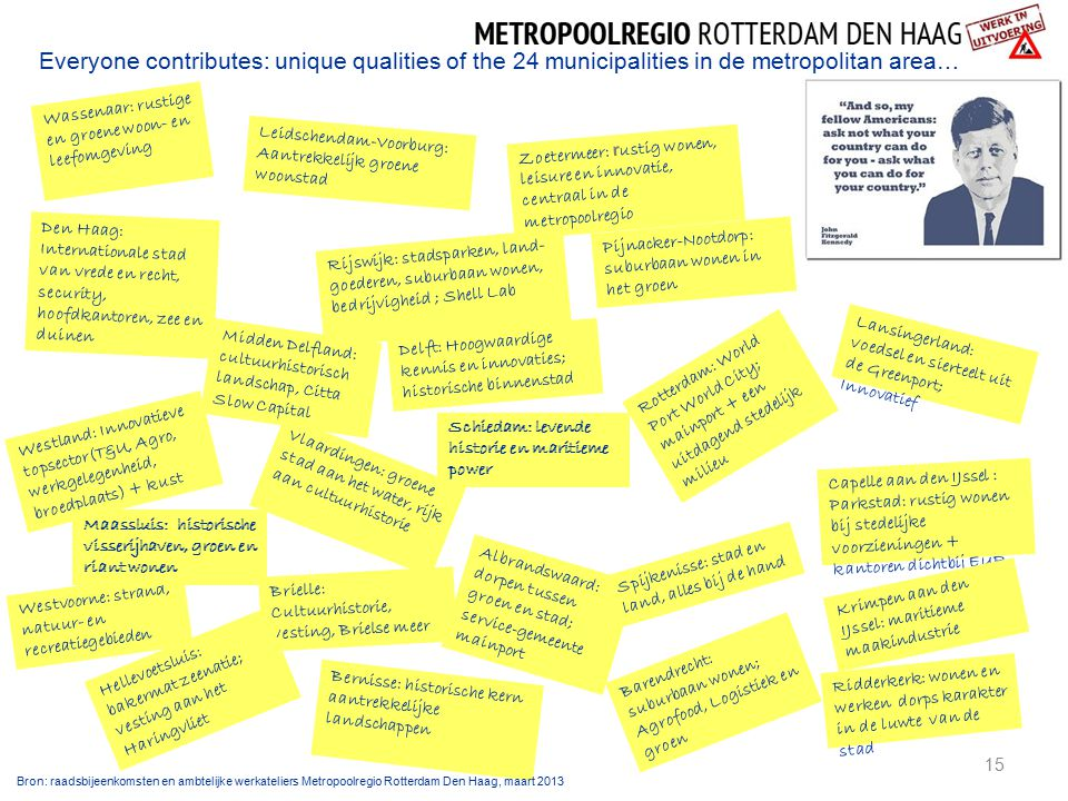 Everyone contributes: unique qualities of the 24 municipalities in de metropolitan area…