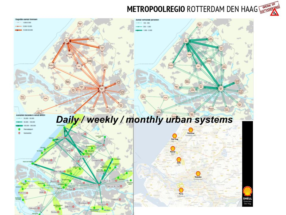 Daily / weekly / monthly urban systems