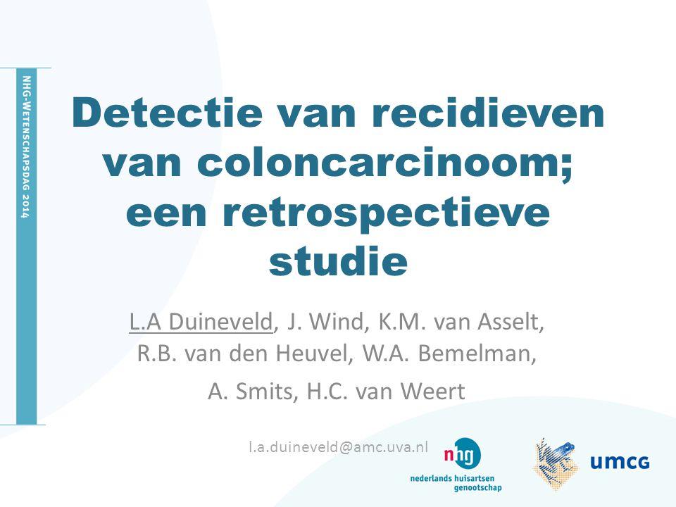 Detectie van recidieven van coloncarcinoom; een retrospectieve studie