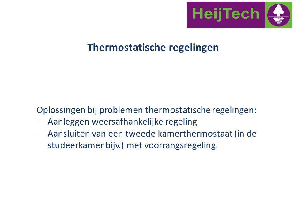 Thermostatische regelingen