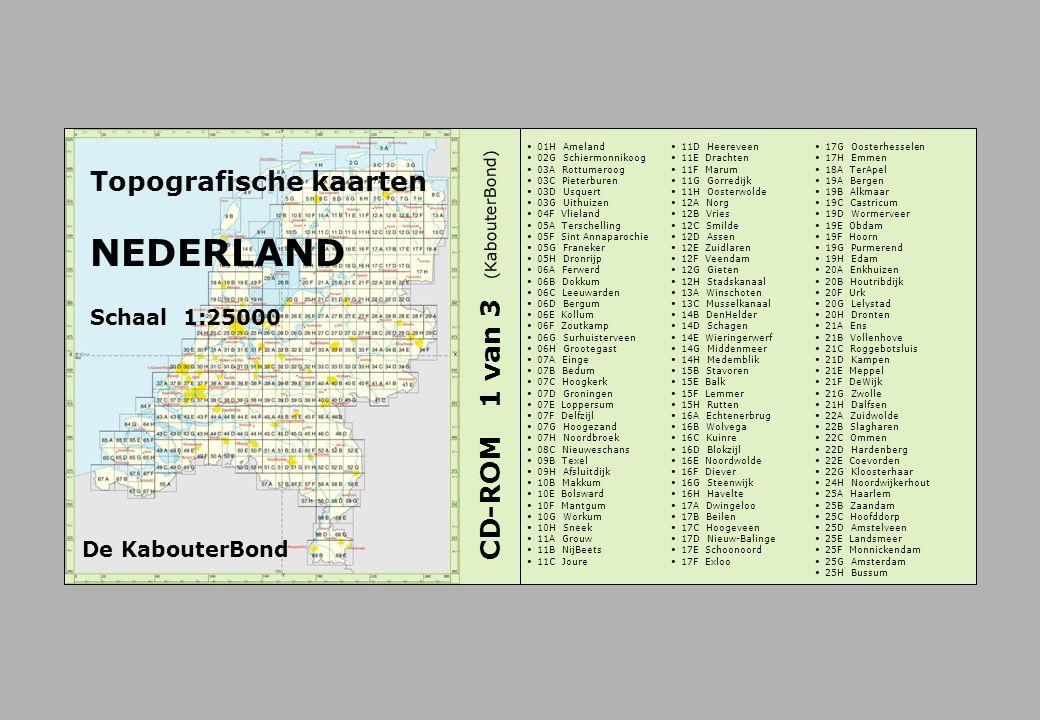NEDERLAND Topografische kaarten CD-ROM 1 van 3 Schaal 1:25000