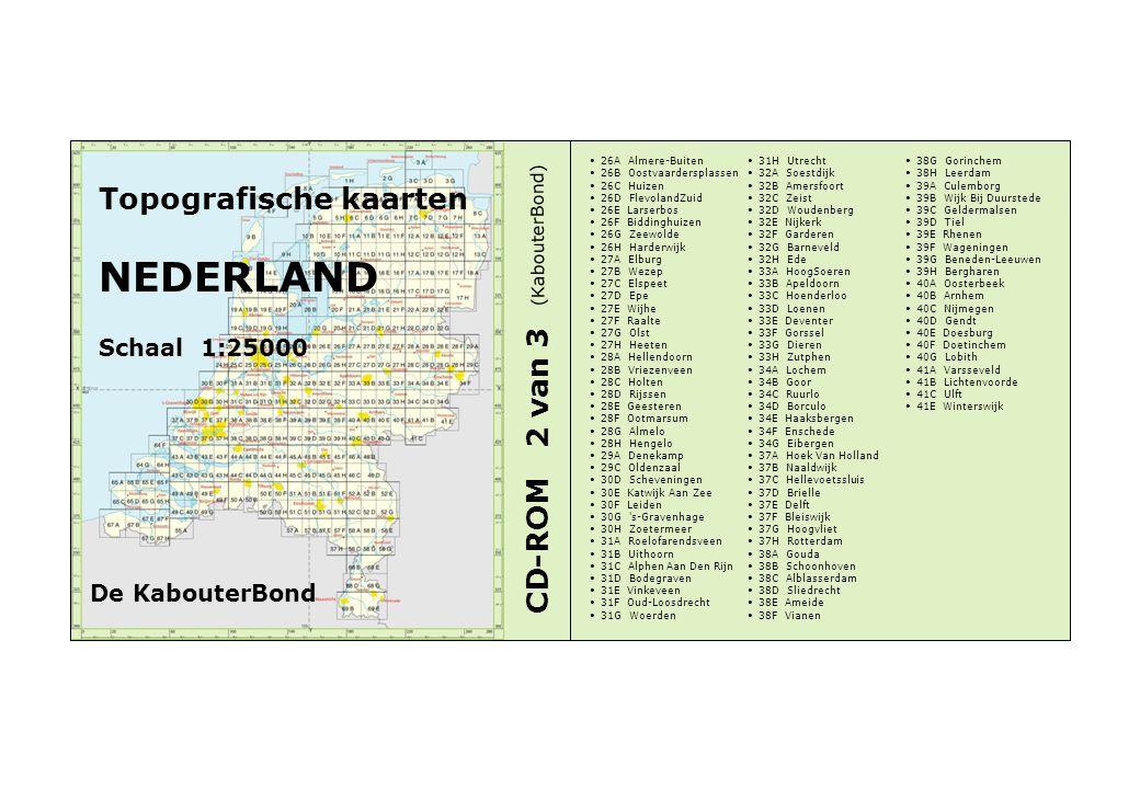 NEDERLAND Topografische kaarten CD-ROM 2 van 3 Schaal 1:25000