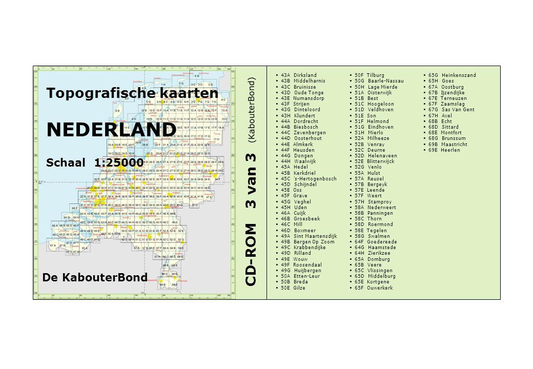 NEDERLAND Topografische kaarten CD-ROM 3 van 3 Schaal 1:25000