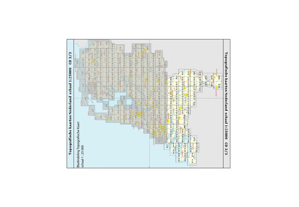 Topografische kaarten Nederland schaal 1:25000 CD 3/3