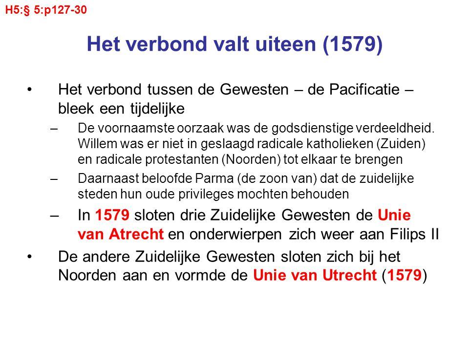 Het verbond valt uiteen (1579)