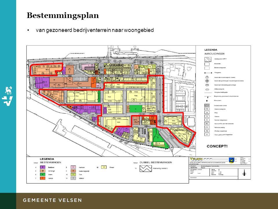 Bestemmingsplan van gezoneerd bedrijventerrein naar woongebied