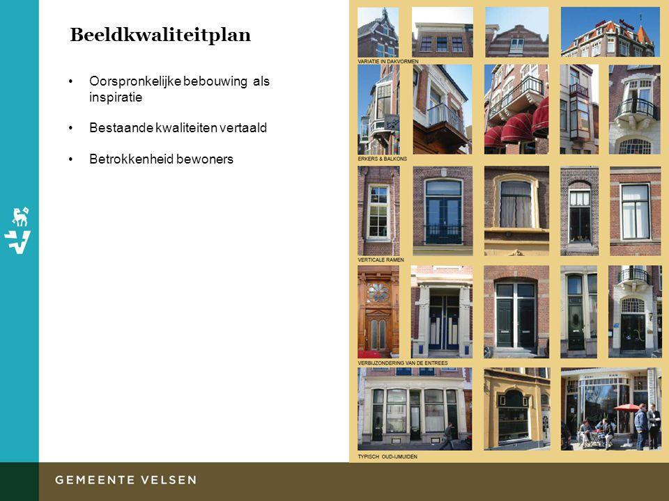 Beeldkwaliteitplan Oorspronkelijke bebouwing als inspiratie