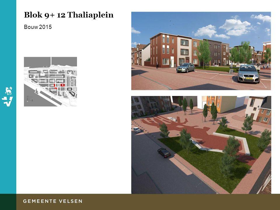 Blok 9+ 12 Thaliaplein Bouw 2015