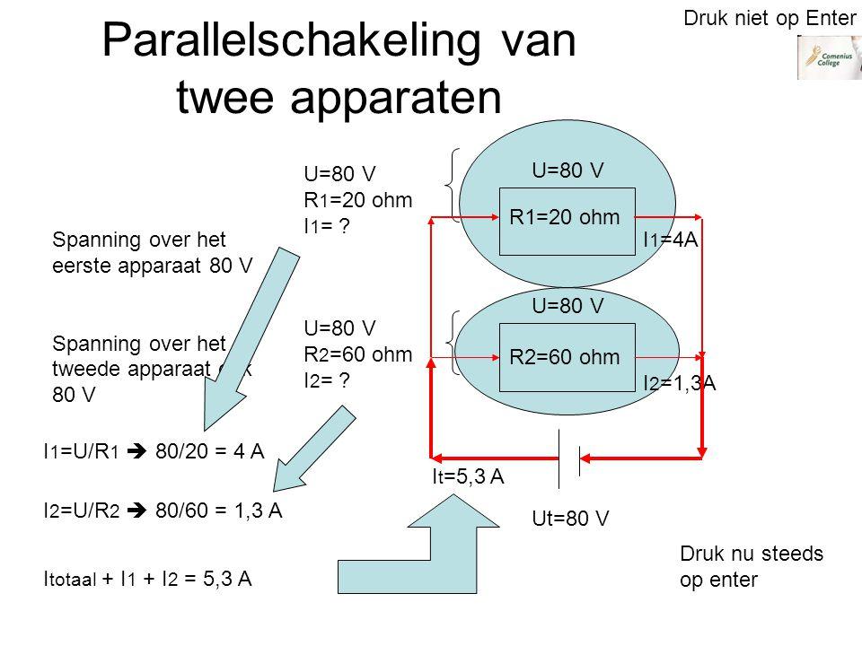 Parallelschakeling van twee apparaten