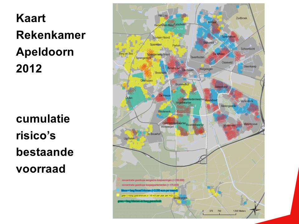 Kaart Rekenkamer Apeldoorn 2012 cumulatie risico's bestaande voorraad
