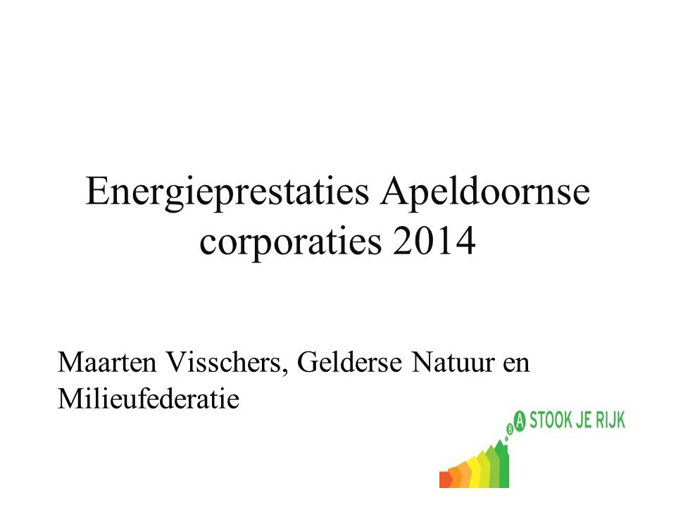 Energieprestaties Apeldoornse corporaties 2014