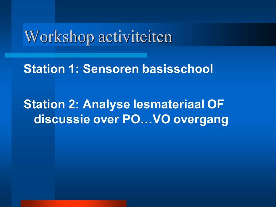 Workshop activiteiten