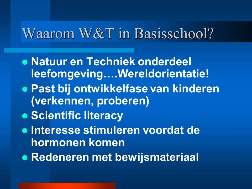 Waarom W&T in Basisschool