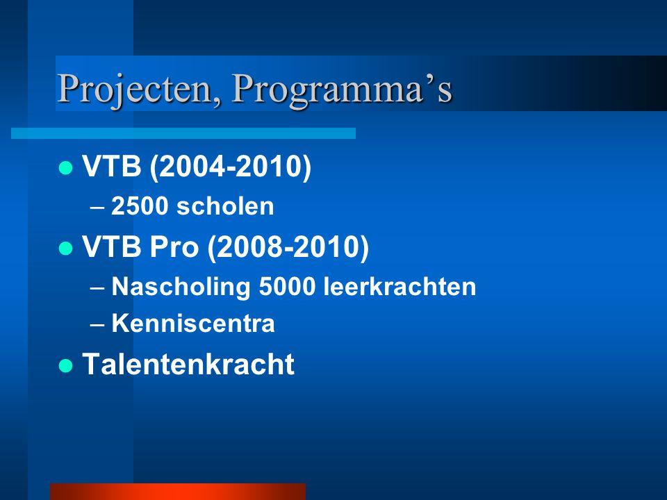 Projecten, Programma's