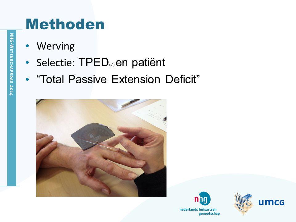 Methoden Werving Selectie: TPED(7) en patiënt