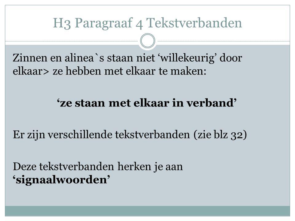 H3 Paragraaf 4 Tekstverbanden