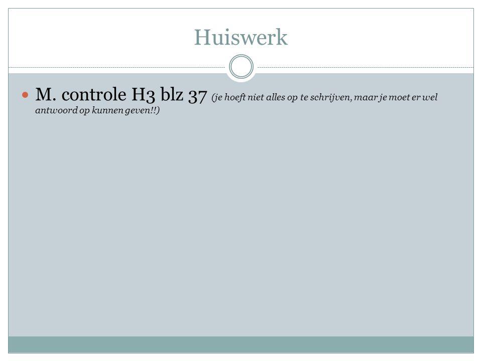 Huiswerk M.