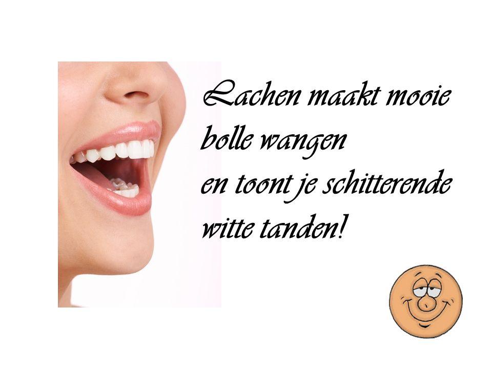 Lachen maakt mooie bolle wangen