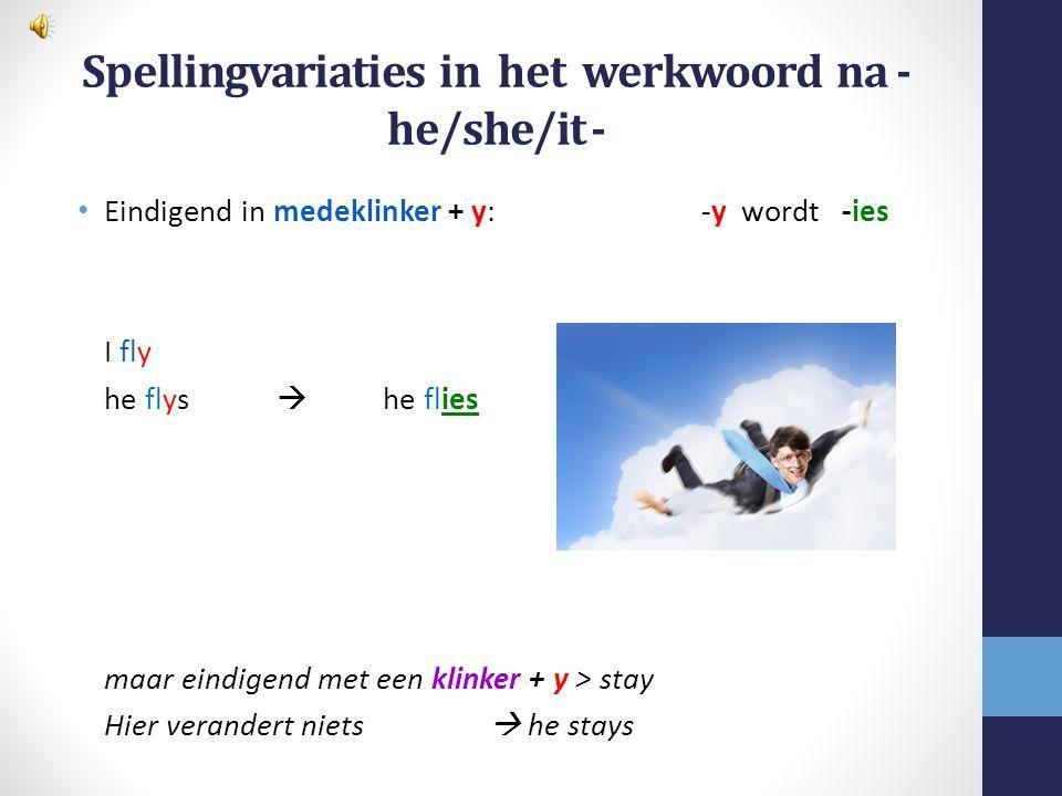 Spellingvariaties in het werkwoord na - he/she/it -