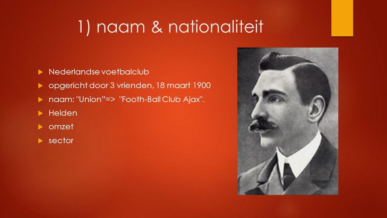 1) naam & nationaliteit Nederlandse voetbalclub