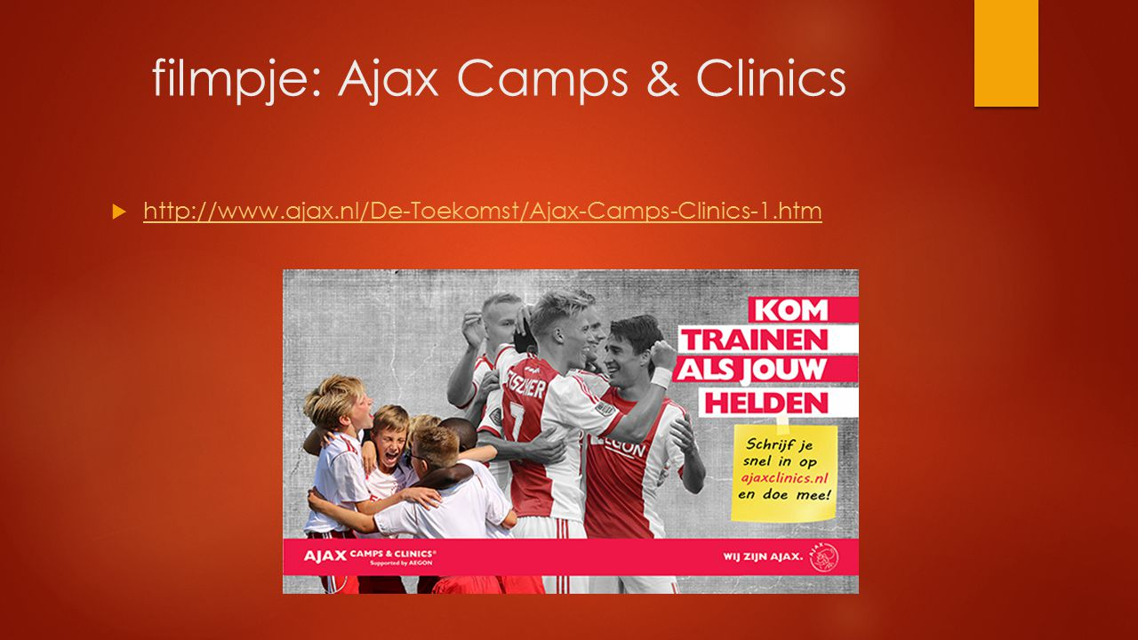 filmpje: Ajax Camps & Clinics