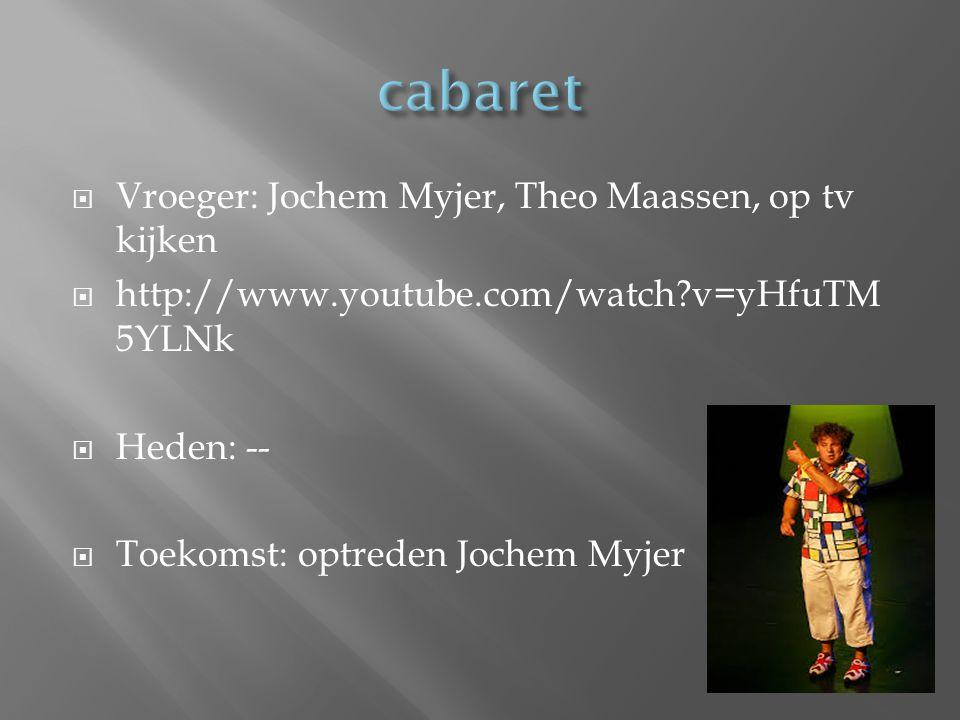 cabaret Vroeger: Jochem Myjer, Theo Maassen, op tv kijken