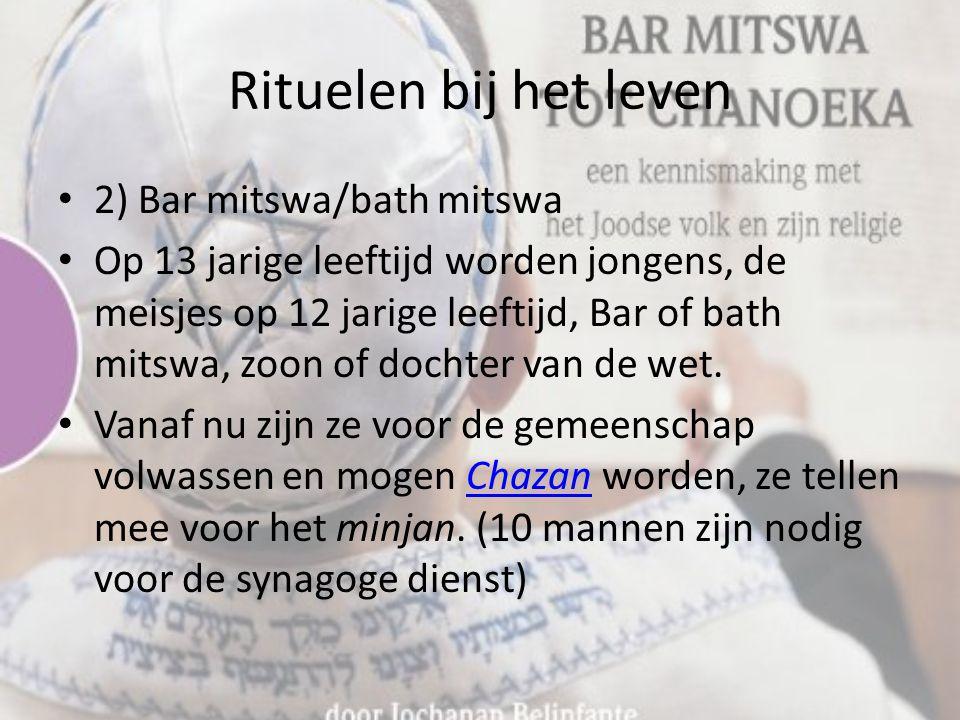 Rituelen bij het leven 2) Bar mitswa/bath mitswa