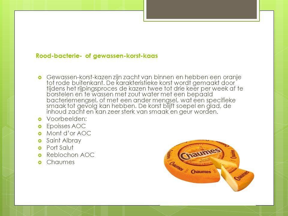 Rood-bacterie- of gewassen-korst-kaas