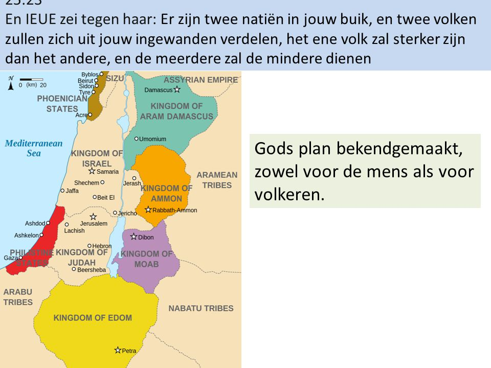 Gods plan bekendgemaakt, zowel voor de mens als voor volkeren.