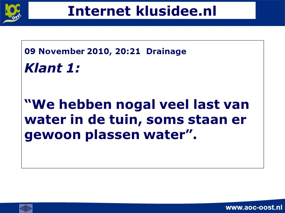 Internet klusidee.nl Klant 1:
