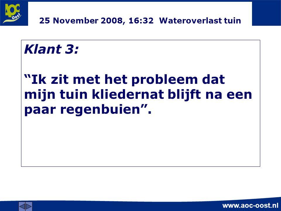 25 November 2008, 16:32 Wateroverlast tuin