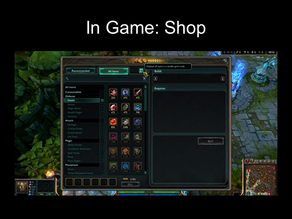 In Game: Shop