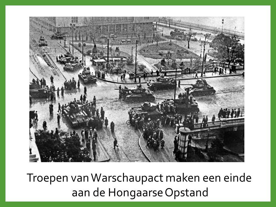 Troepen van Warschaupact maken een einde aan de Hongaarse Opstand