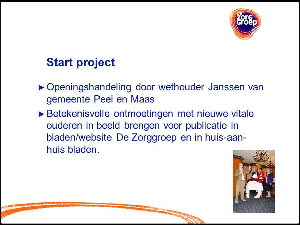 Start project Openingshandeling door wethouder Janssen van gemeente Peel en Maas.