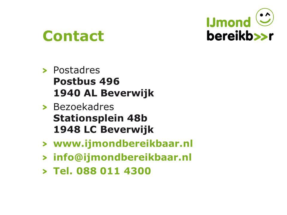 Contact Postadres Postbus 496 1940 AL Beverwijk