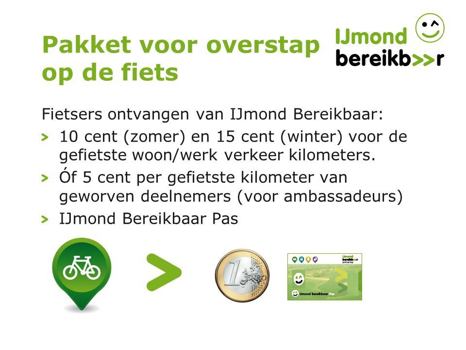 Pakket voor overstap op de fiets