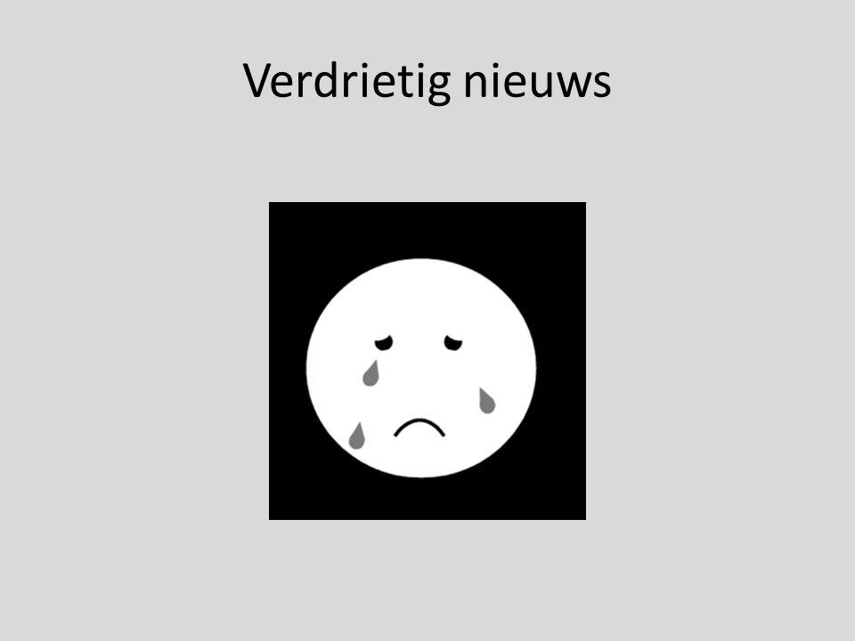 Verdrietig nieuws