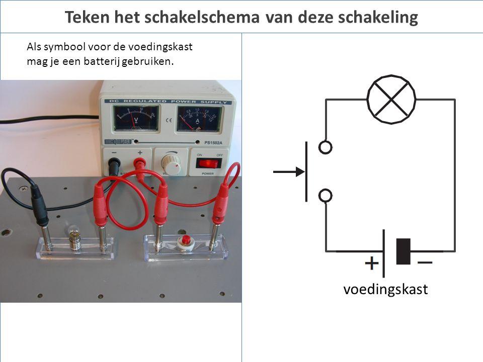 Als symbool voor de voedingskast mag je een batterij gebruiken.